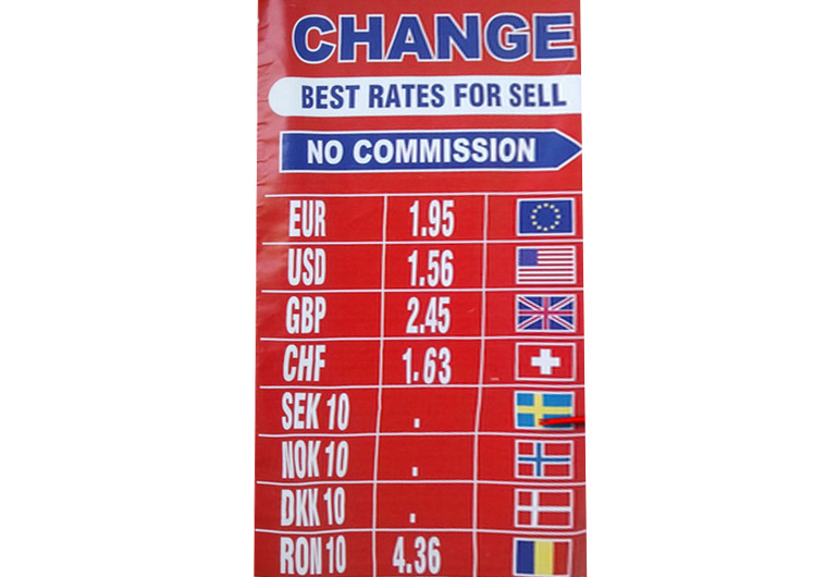 Crown Change sell rate